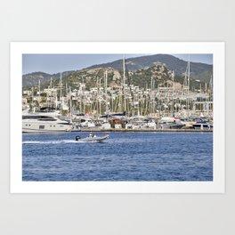 Bodrum Marina Turkey Art Print