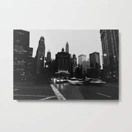 Headlights BW Metal Print