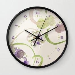 Atom Flowers #19 Wall Clock