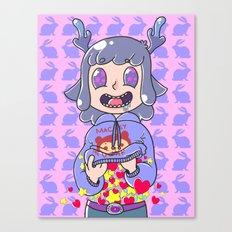 Deer boy Organs Canvas Print