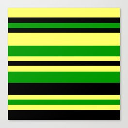 Jamaican Inspired Strips Canvas Print