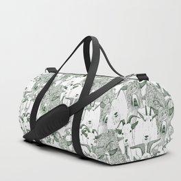just goats dark green Duffle Bag