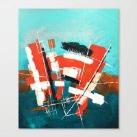 skyline Canvas Prints featuring Skyline by Rafael Galue