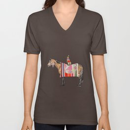 Horse with hare  Unisex V-Neck