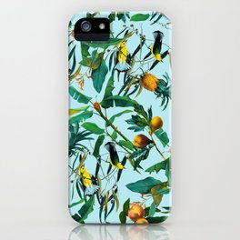 Fruit and Birds Pattern iPhone Case