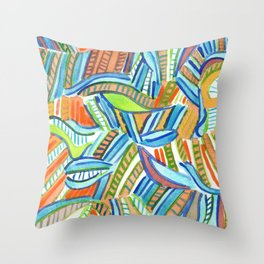 Bent and Straight Ladders Pattern Throw Pillow
