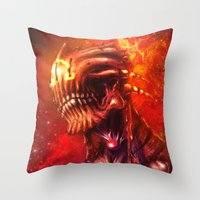 mars Throw Pillows featuring Mars by Vincent Vernacatola