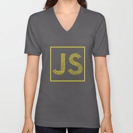 Javascript wordcloud shirt for JS Logo Unisex V-Neck