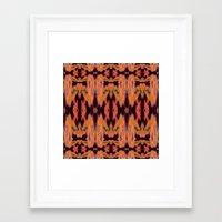 kilim Framed Art Prints featuring Azra Kilim by Nina May Designs