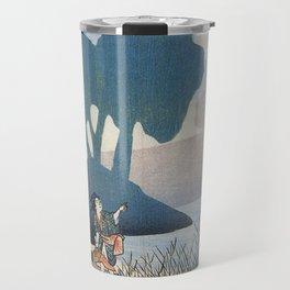 Hiroshige, A family in a misty landscape Travel Mug