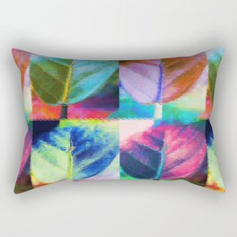 Abstract Leaf Colors Rectangular Pillow