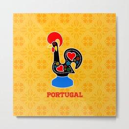 Barcelos Rooster (Galo de Barcelos) Metal Print