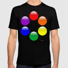 Gay Buttons Black MEDIUM Mens Fitted Tee