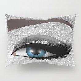 Glam diamond lashes eye #1 Pillow Sham