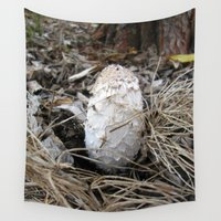 mushroom Wall Tapestries featuring Mushroom by Andrea Morris