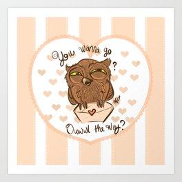 Owl the Way Art Print