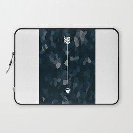 Blue Geometric Polygon White Single Arrow Laptop Sleeve