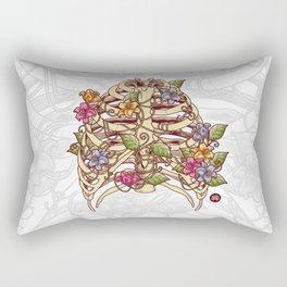 Rib Bloom Rectangular Pillow