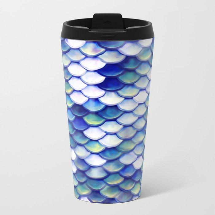 Mermaid Tale Pattern Metal Travel Mug