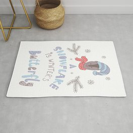 A Snowflake is Winter's Butterfly Rug