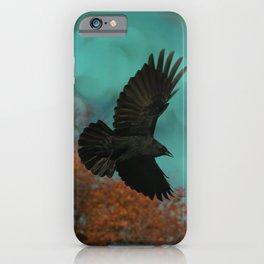 Soaring Crow iPhone Case