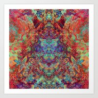 supreme Art Prints featuring Supreme by GypsYonic