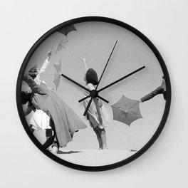 Umbrella ballet Wall Clock