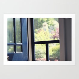 Outside the cottage door Art Print