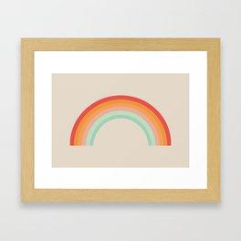 Vintage Rainbow Framed Art Print