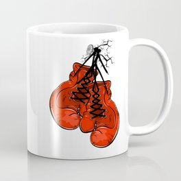Red boxing gloves hanging on a nail Coffee Mug