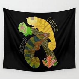 Chameleon Pun Wall Tapestry