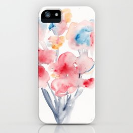 22  | Loose Watercolor Flower | 191015 iPhone Case