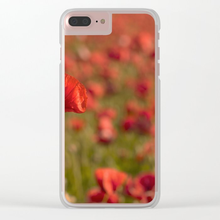 Poppy poppies summer field Clear iPhone Case
