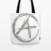 anarchy Tote Bags featuring Anarchy by Collectivo 2