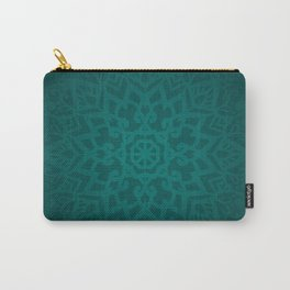 Abstract Mandala Flower Decoration 6 - Jade Color Carry-All Pouch