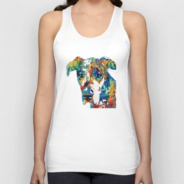 Colorful Great Dane Art Dog By Sharon Cummings Unisex Tank Top