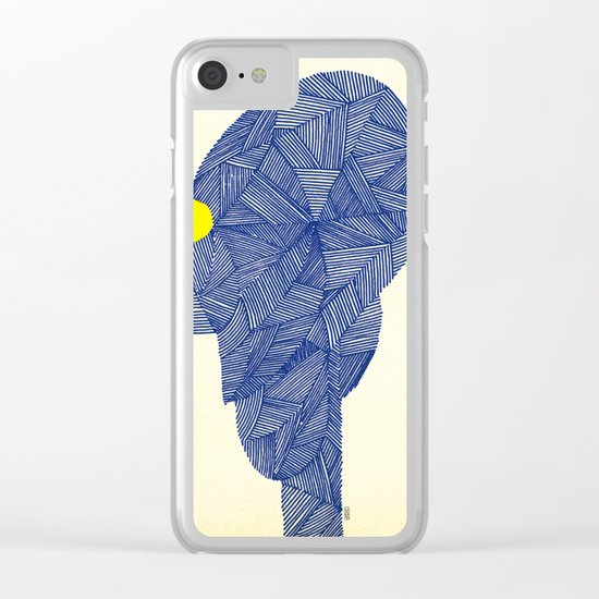 - space message - Clear iPhone Case