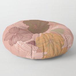 Hibiscus summer flower Floor Pillow