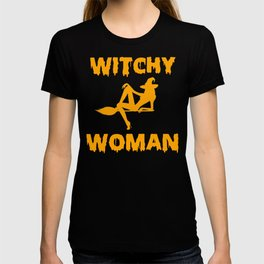 Witchy Woman Funny Halloween Witch Shirt T-shirt