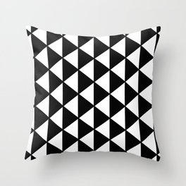 Black And White Triangles Pattern Throw Pillow