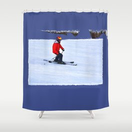 Skiing Shower Curtains