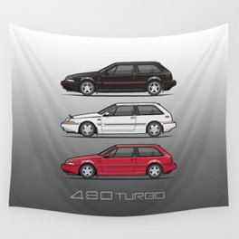 Stack of Volvo 480 Turbos Wall Tapestry