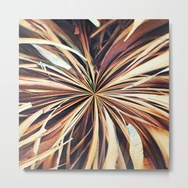 356 - Abstract Palm Fronds Design Metal Print