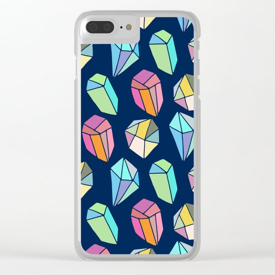Colorful diamonds Pattern Clear iPhone Case