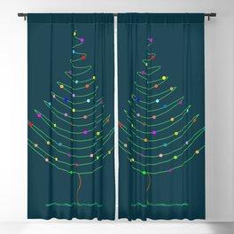 Christmas Tree Lights Blackout Curtain