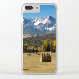 Autumn Harvest in the Rockies Clear iPhone Case