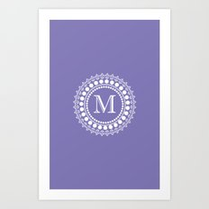 The Circle of  M Art Print