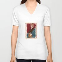 chihiro V-neck T-shirts featuring The Chihiro of Hearts by Dampho
