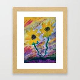 Sunflower love Framed Art Print