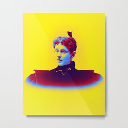 1890 (about) - Harriet Blair (Dorsey) Hornsby (1863-1937) Neon art by Ahmet Asar Metal Print